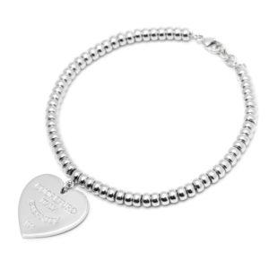 Amore Eterno - Bracciale con chiusura cuore 2cm