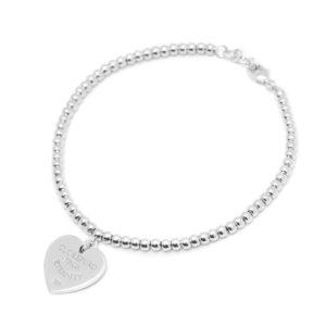 Amore Eterno - Bracciale con chiusura cuore 1,5cm