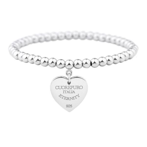 Amore Eterno - bracciale elastico cuore 2 cm - BR03LA