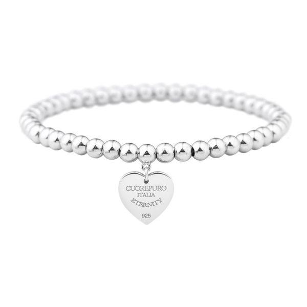Amore Eterno - bracciale elastico cuore 1,5 cm - BR04LA