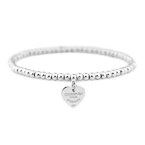 Amore Eterno - bracciale elastico cuore 1 cm - BR05LA