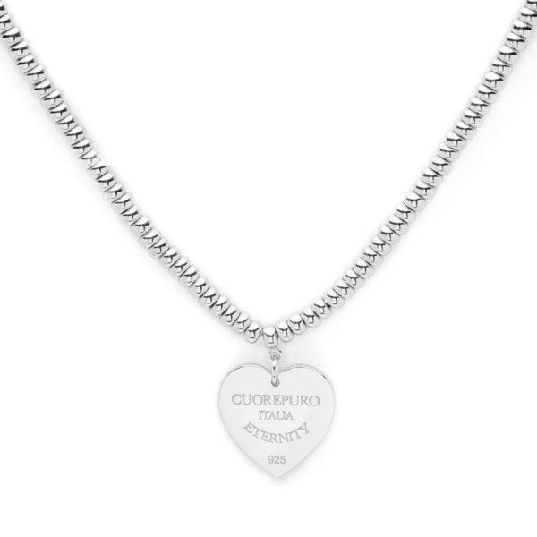 Amore Eterno - Girocollo con chiusura e cuore 1cm